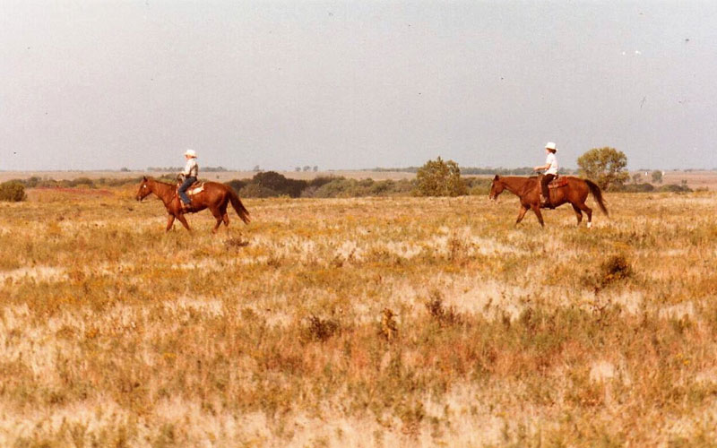 Harry Wagner and Twyla Hoobler in 1985 - Historical Photo - Kansas Cattle Company