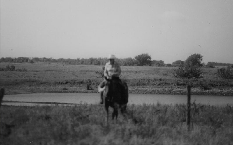 Harry Wagner at Kincaid Ranch in 1985 - Historical Photo - Kansas Cattle Company